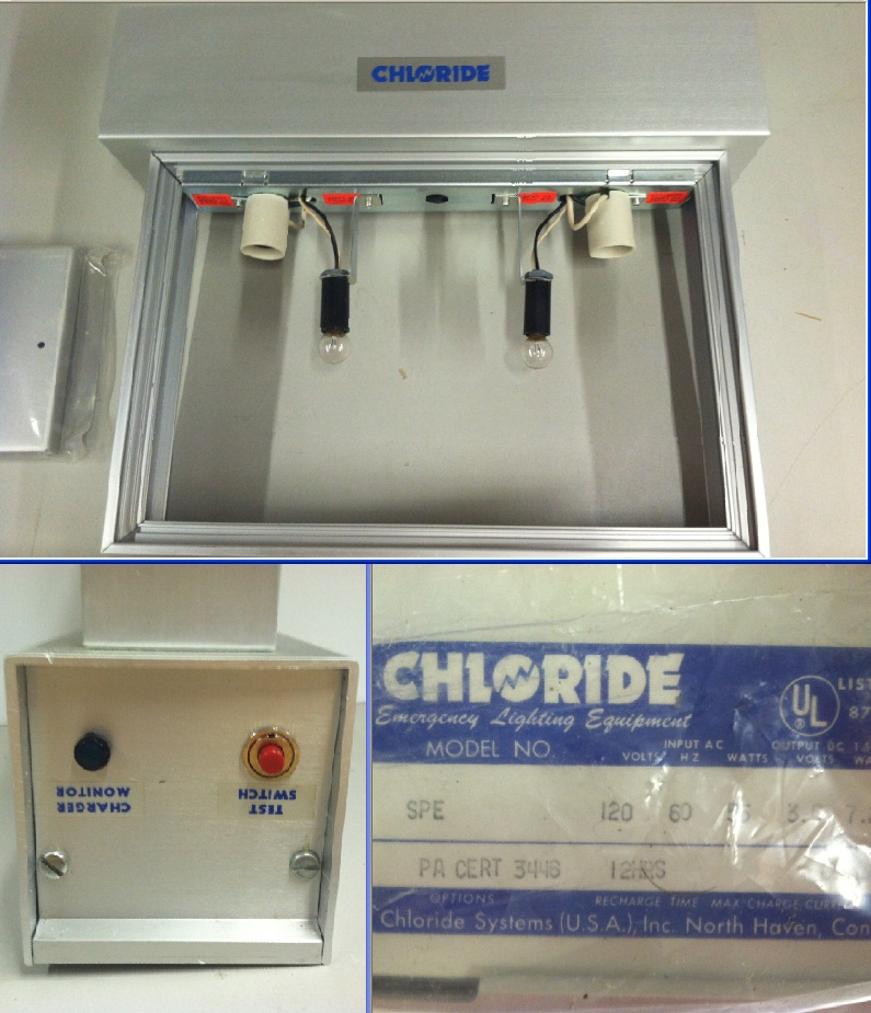 Chloride Emergency Lighting Equiptment Exit Signs 120v 55w