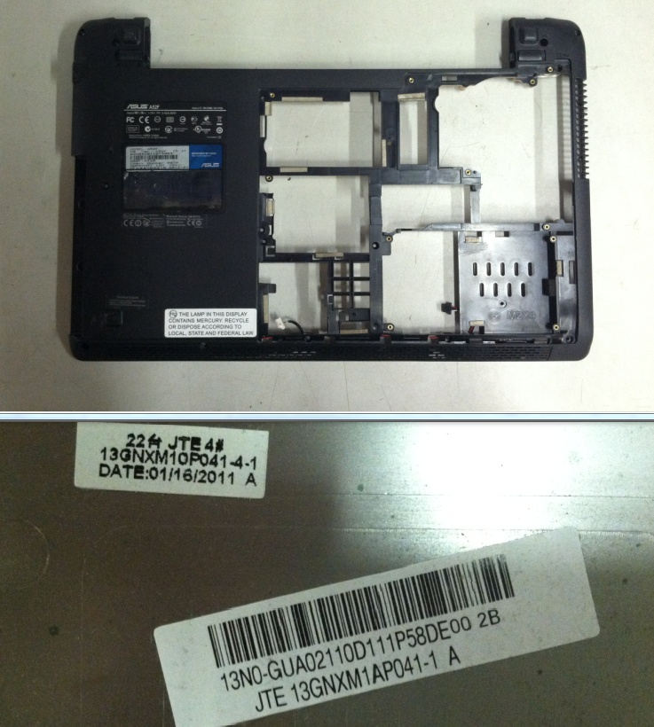 13N0-GUA0211 13GNXM1AP041-1 GENUINE ASUS BASE COVER W// PLASTIC ASSEMBLY K52F